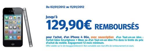Bouygues Telecom, vous offre un iPhone 4 8Go jusqu'au 15 janvier! Iphone10