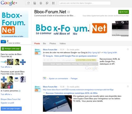 La page Google+ de BFN est ouverte Pgplus10