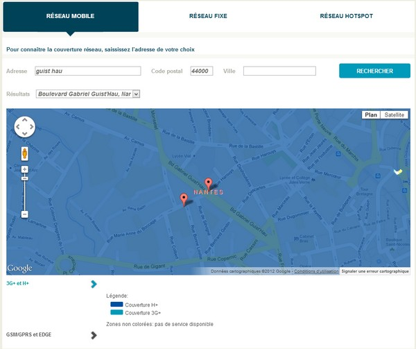 Bouygues Telecom améliore sa carte de couverture réseau Reseau10