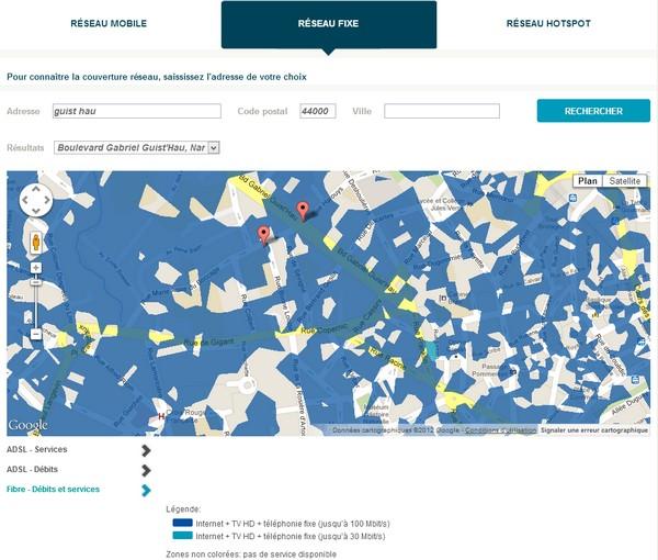 Bouygues Telecom améliore sa carte de couverture réseau Reseau11