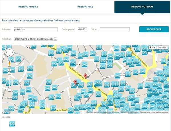 Bouygues Telecom améliore sa carte de couverture réseau Reseau12