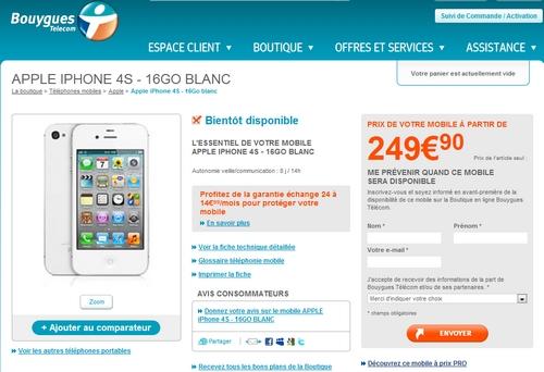 [MAJ] L'iphone 4S sur le site de Bouygues Telecom Sans_t10