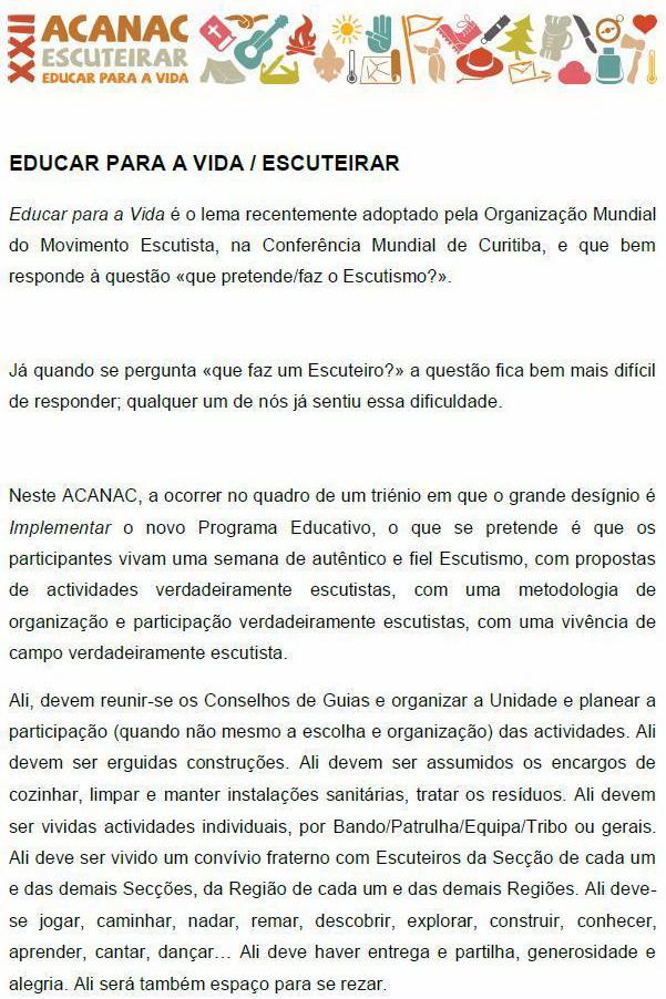 XXII Acanac / Idanha-a-Nova / 4 a 10 de Agosto de 2012 121