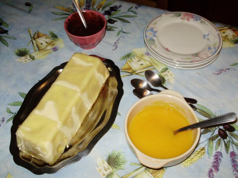 Lasagnes à la poire et à la pêche en terrine 00211