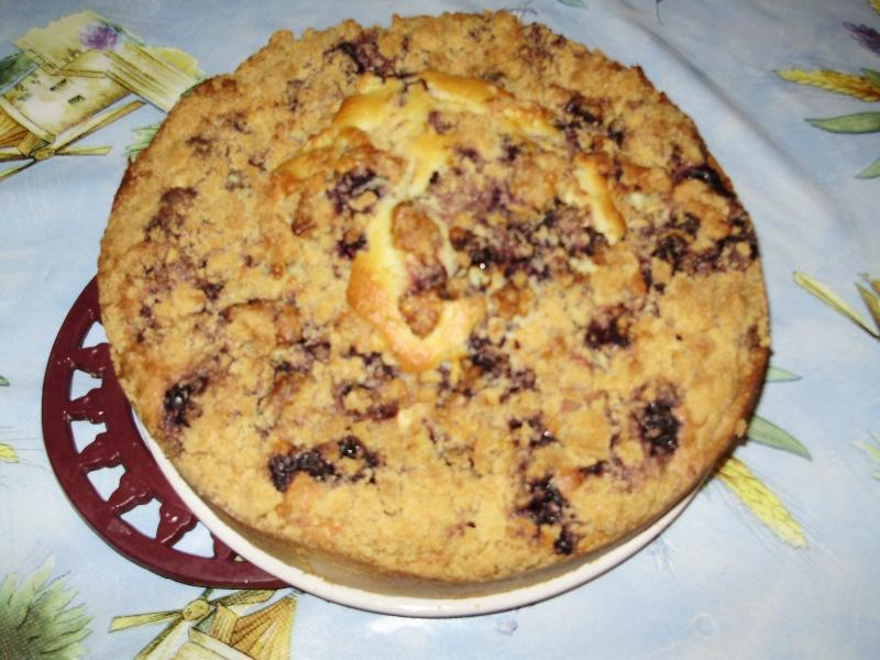 Streusel Cake à la pomme et aux myrtilles 07010