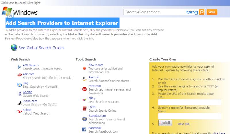 Add Search Providers to Internet Explorer Untitl10