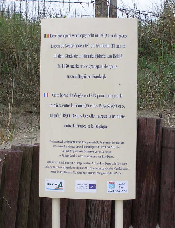 Frontière belgo-française, De Panne et Bray-Dunes. 2012-016
