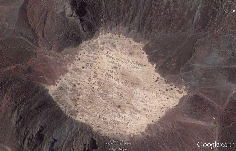 Volcan taggé du Cerro Prieto, Mexique 2012-028
