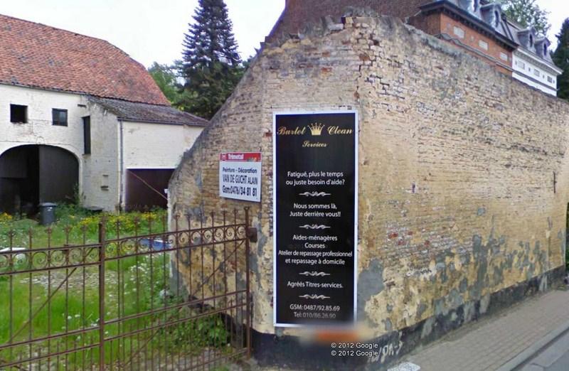 STREET VIEW : Affichage Hasardeux - Chaumont-Gistoux - Belgique 2012-098
