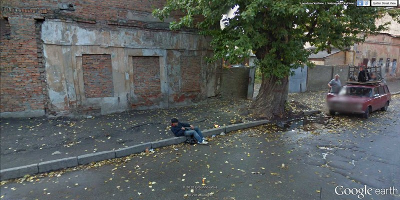 Street view. Saoul comme un ... ukrainien - Kharkiv - Ukraine  2012-168