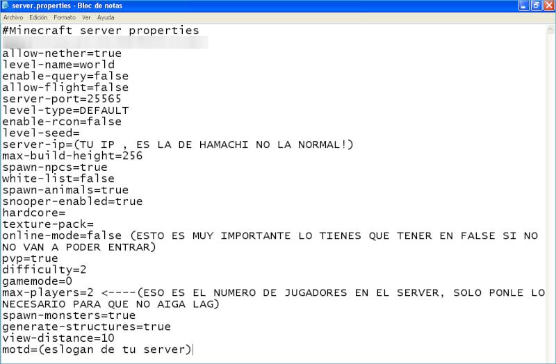 Crea un servidor de Minecraft con Hamachi Minecr18