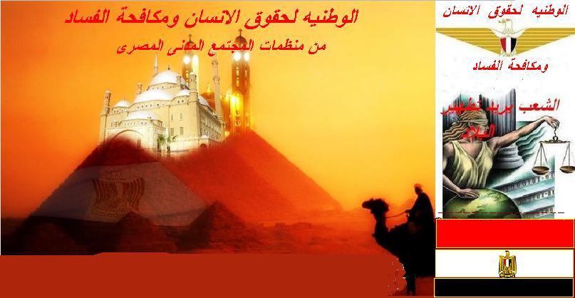 الوطنيه لحقوق الانسان ومكافحة الفساد - منظمه مصريه مدنيه