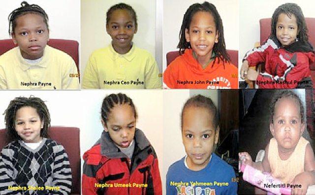 NEFERTITI (11 months) & 7 Boys all named NEPHRA (4,5,6,6,9,10 & 11) PAYNE - Forest Hills, New York (USA) - 19/09/11 Eight10