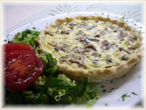 Tartelette « quiche » aux champignons 31465610