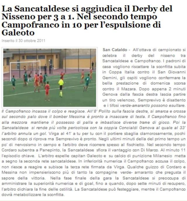 Campionato 8° Giornata: Sancataldese - Atl. Campofranco 3-1 129