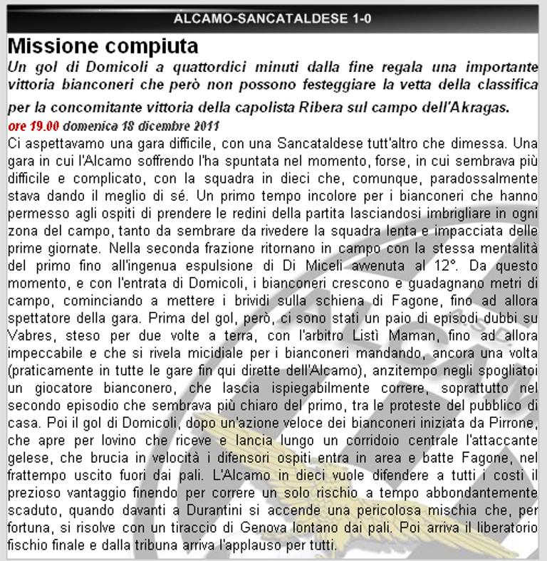 Campionato 15° Giornata: Alcamo - Sancataldese 1-0 137