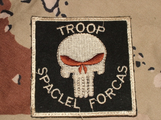 """Misspelled SF Patch """"Spaclel Forcas"""" 00214"""