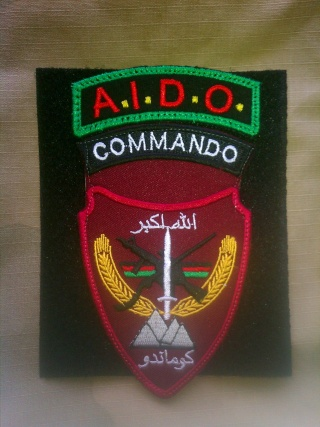 1st Afghan Commando - AIDO Program Patch 20121110
