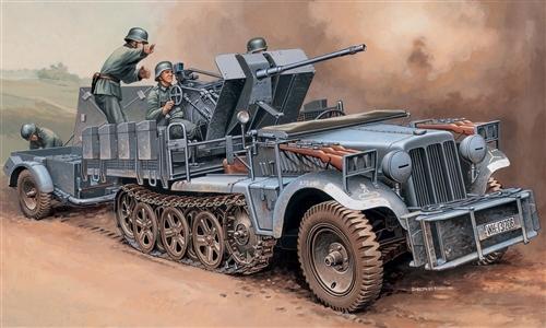 Sdkfz - 10/4 with flak (peinture en cours) Italer10