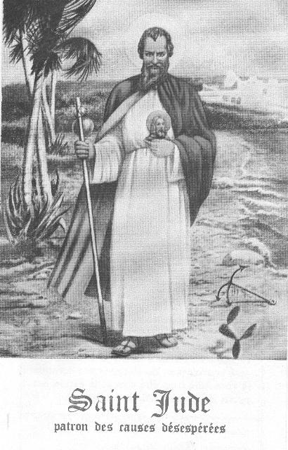 Prière à SAINT JUDE - patron des causes désespérées Bureau52