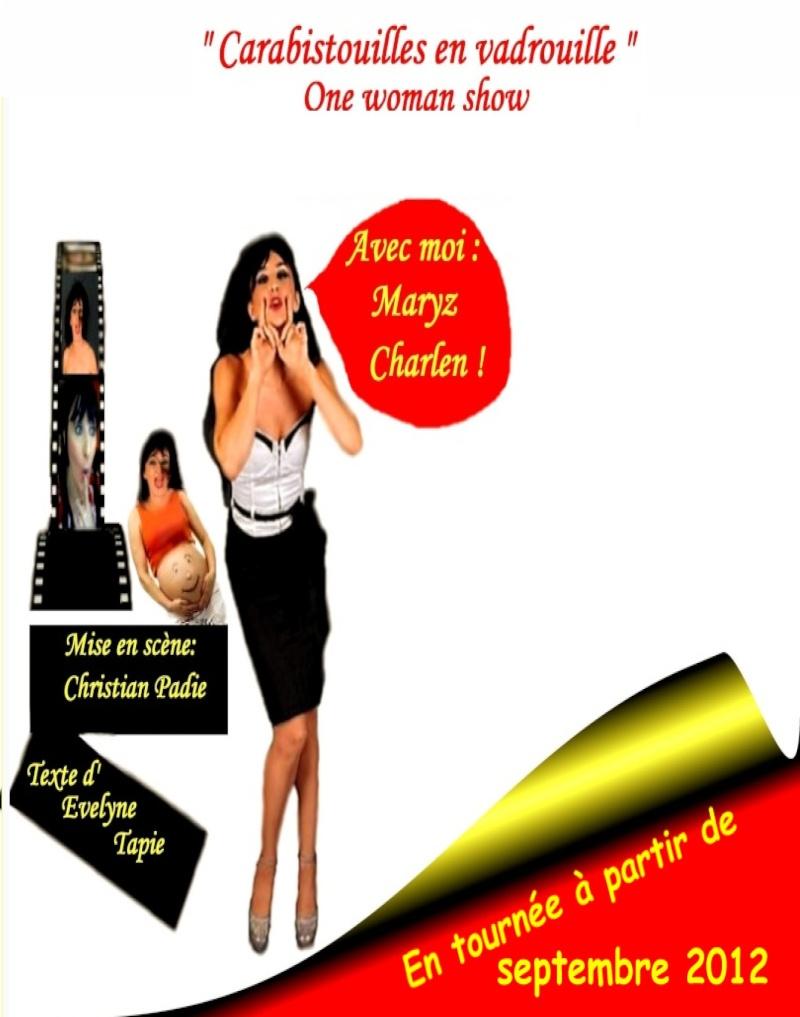 """One woman show """"Carabistouilles en vadrouille"""" Texte: Evelyne Tapie Affich17"""