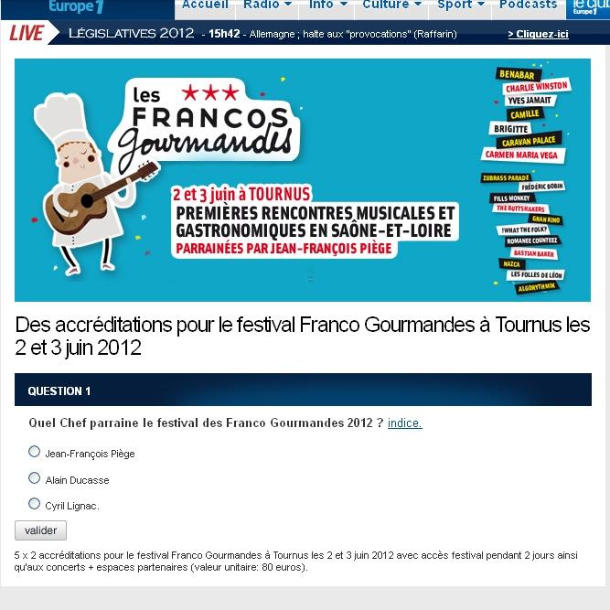FRANCOFOLIES GOURMANDES - Tournus (71) - 2 et 3 juin - AVEC BENABAR le 03 juin. Sans_t29