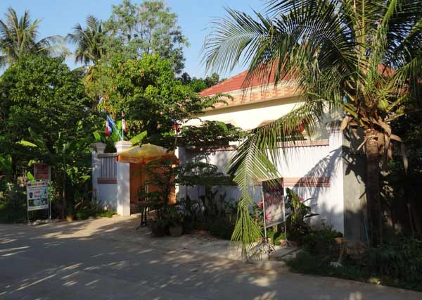 Cambodge -  Guesthouse Villa Koh Dach Entree10
