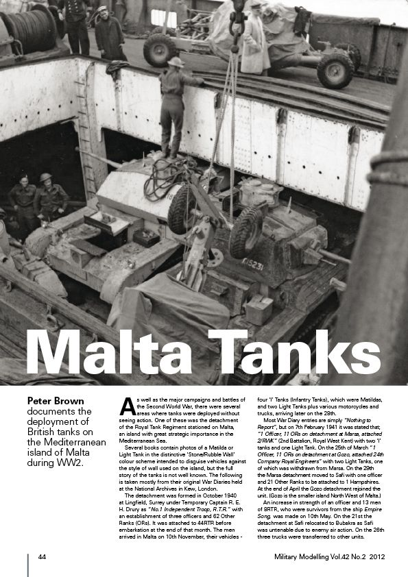 Articles about Malta Tanks in next MM Mm201210