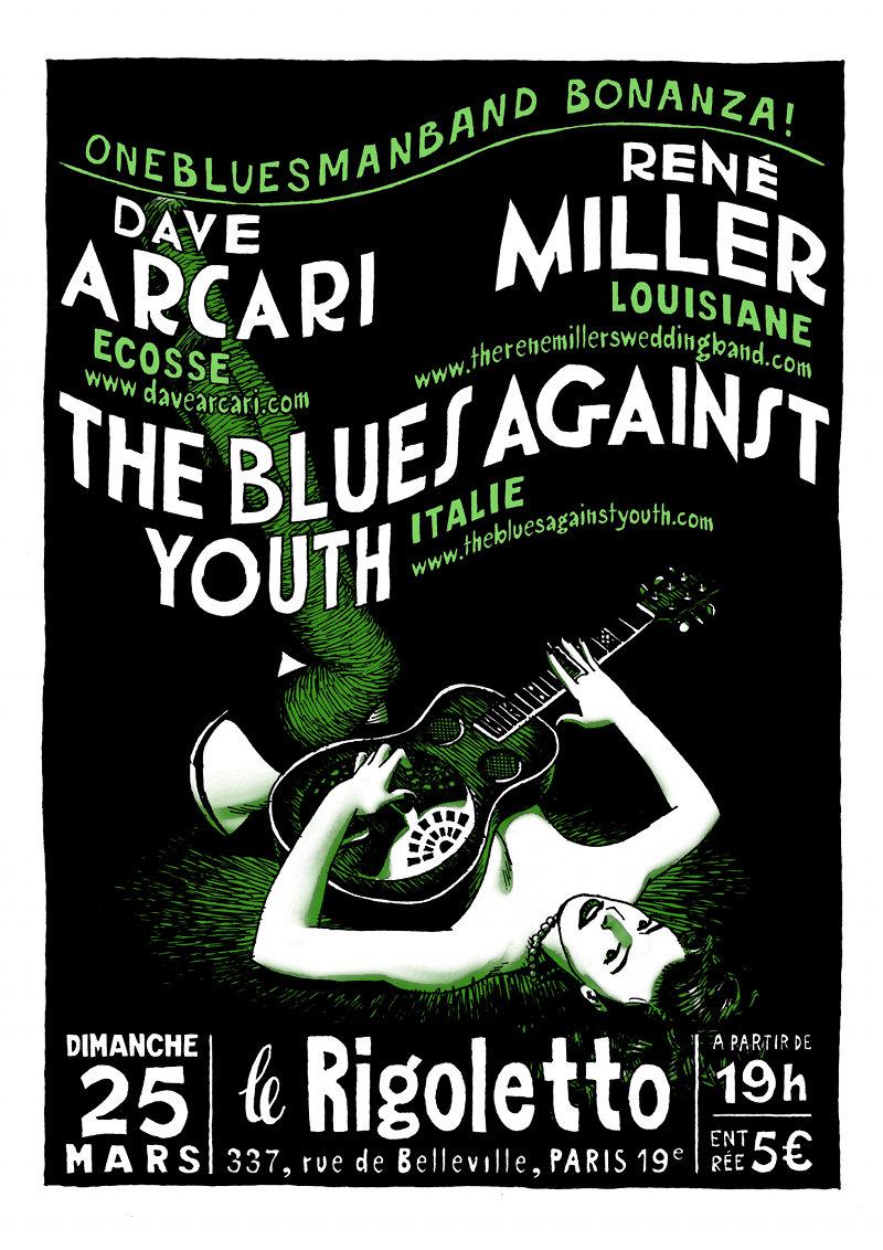 Onebluesmanbands Bonanza (Paris) Arcari11