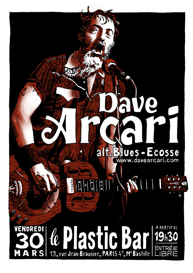 Dave Arcari au Plastic Bar Arcari12
