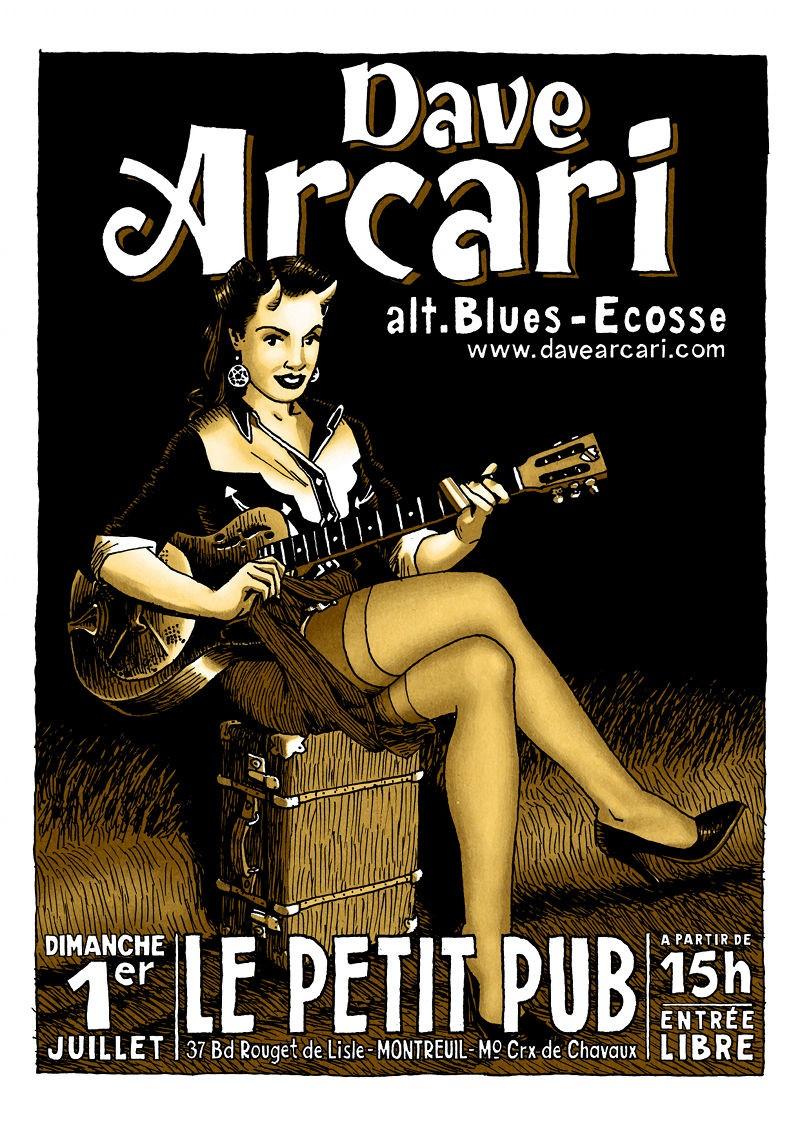 Rockin' Blues : Dave Arcari in Montreuil Davear10