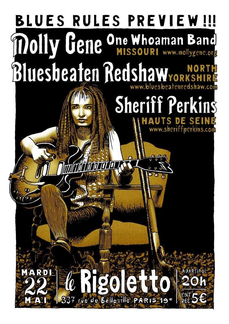 Paris Blues Rules preview : Delta Thrash Queen...and princes Mollyg10