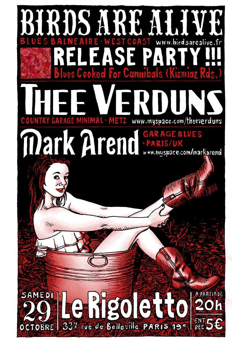 Birds are Alive release party + Thee Verduns + Mark Arend Rigole10