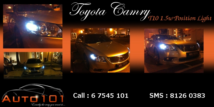 Auto 101 - LEDs - Battery - Wipers - Volt Meters - DRLs - HIDs - In Car Cameras Camry_10