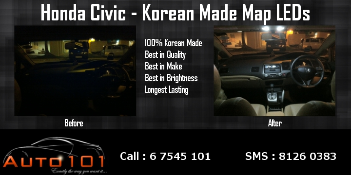 Auto 101 - LEDs - Battery - Wipers - Volt Meters - DRLs - HIDs - In Car Cameras Civic_11