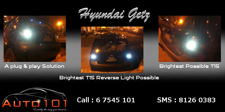 Auto 101 - LEDs - Battery - Wipers - Volt Meters - DRLs - HIDs - In Car Cameras Getz_t10