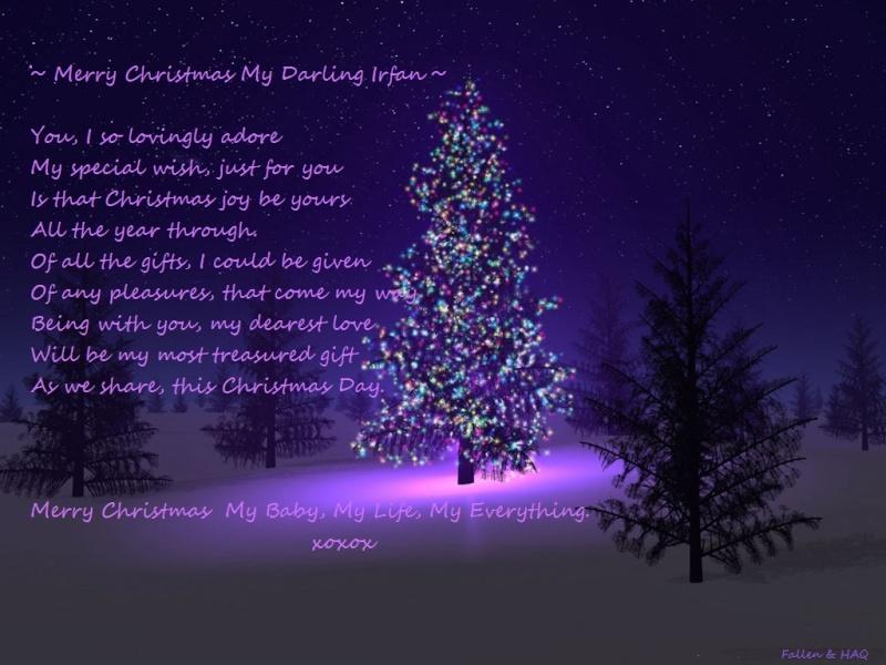 merry christmas my darling irfan