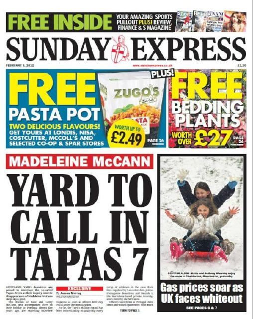 Sunday Express - Tapas 7 to be interviewed by SY Sunday10