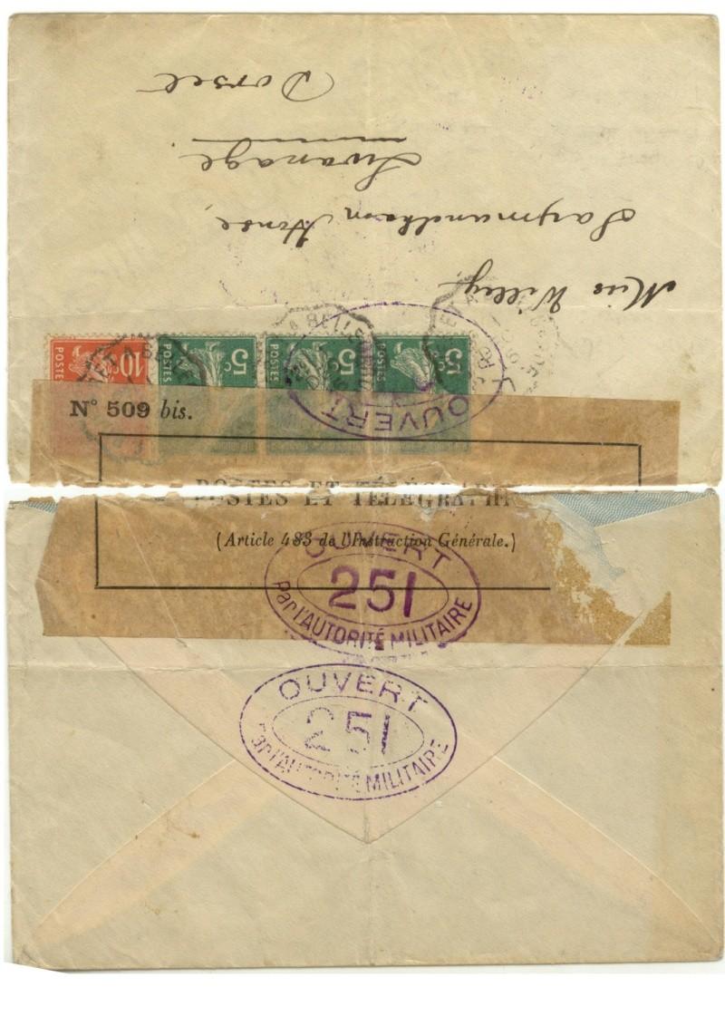 OMEC + censure militaire 14-18 + histoire postale Sans_t20