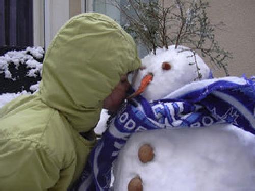 Mon bonhomme de neige à Couffoulens Martin10