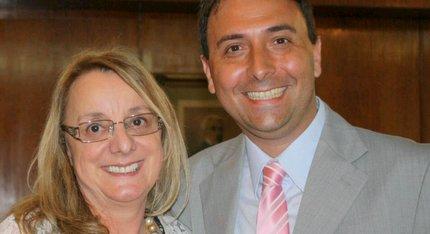 Rojas: Mario Yemes y Alicia Kirchner abordaron temas como la inclusión social. 001231