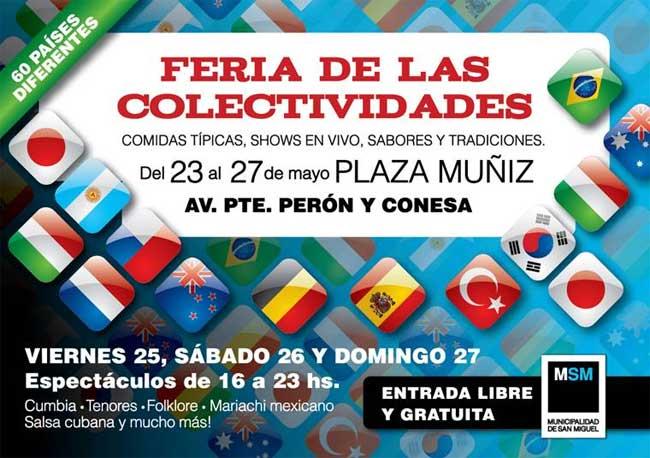 San Miguel. Feria de las Colectividades en la Plaza Muñíz. 00199