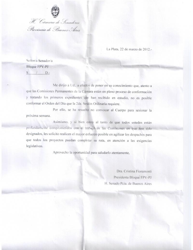Mariotto sufre el vacío de los senadores y perdió el control de la Cámara 00738
