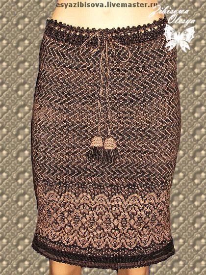 Вязаные юбки жаккард- 600 рублей 665610