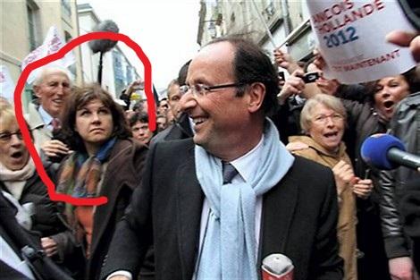 Une sorcière apparaît sur l'image du candidat Hollande  12042310