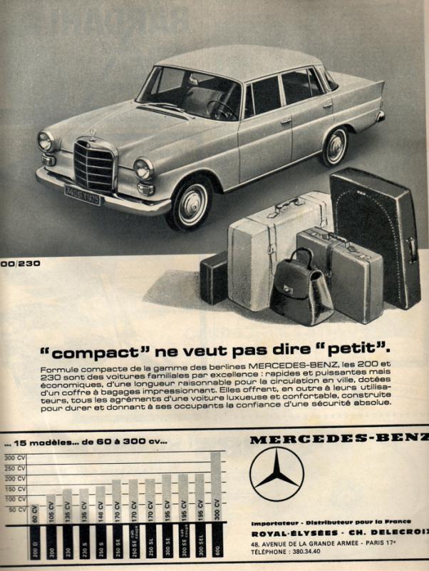 "[Historique] La Mercedes-Benz W110 ""Kleine Heckflosse"" 1961 - 1968 66433310"