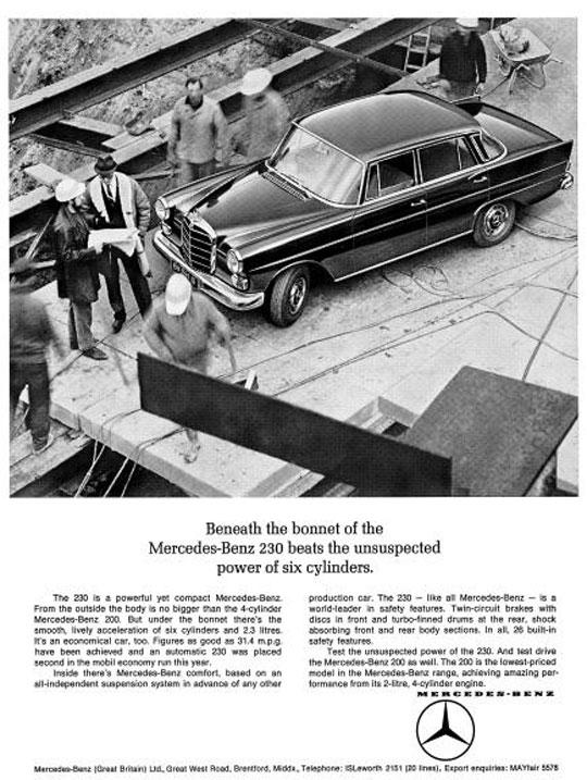 "[Historique] La Mercedes-Benz W110 ""Kleine Heckflosse"" 1961 - 1968 96711010"