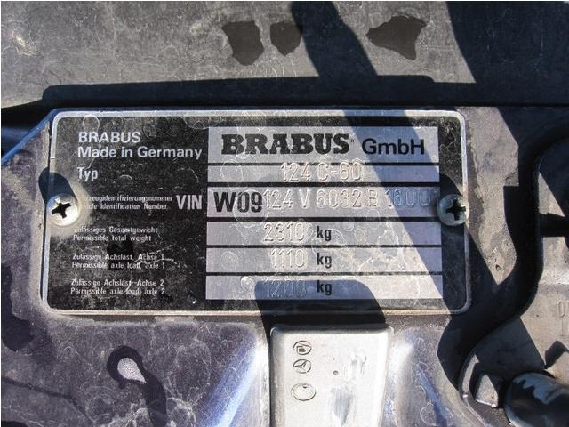 BRABUS 6.5 (E 500 W124) Un des 4 bijoux mondiaux encore vivants W124_b16