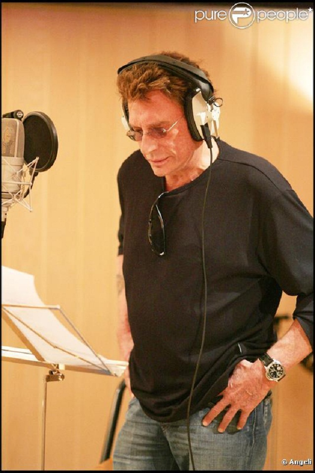 johnny hallyday en studio  43510610
