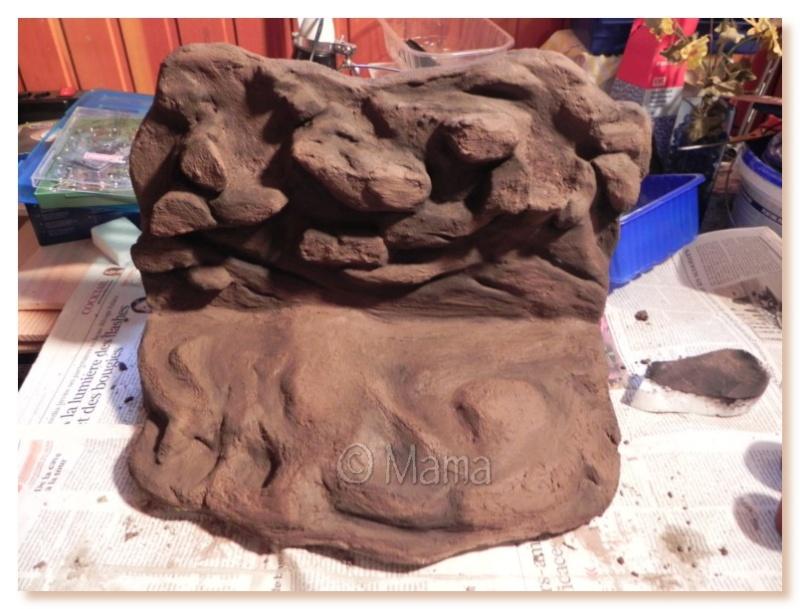 Confection d'une plage flottante (EPS + mortier hydrofuge) Plage018